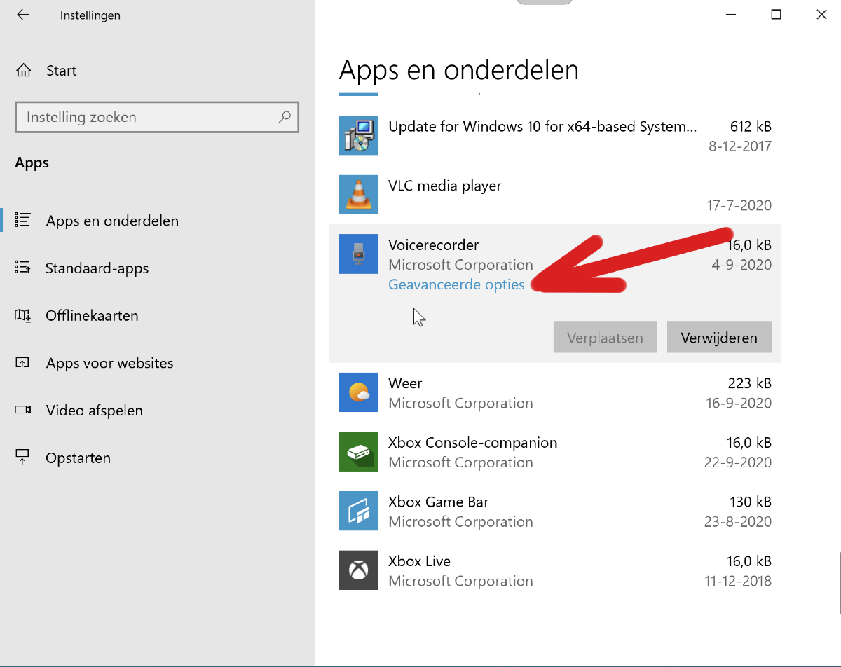 Windows 10 apps repareren
