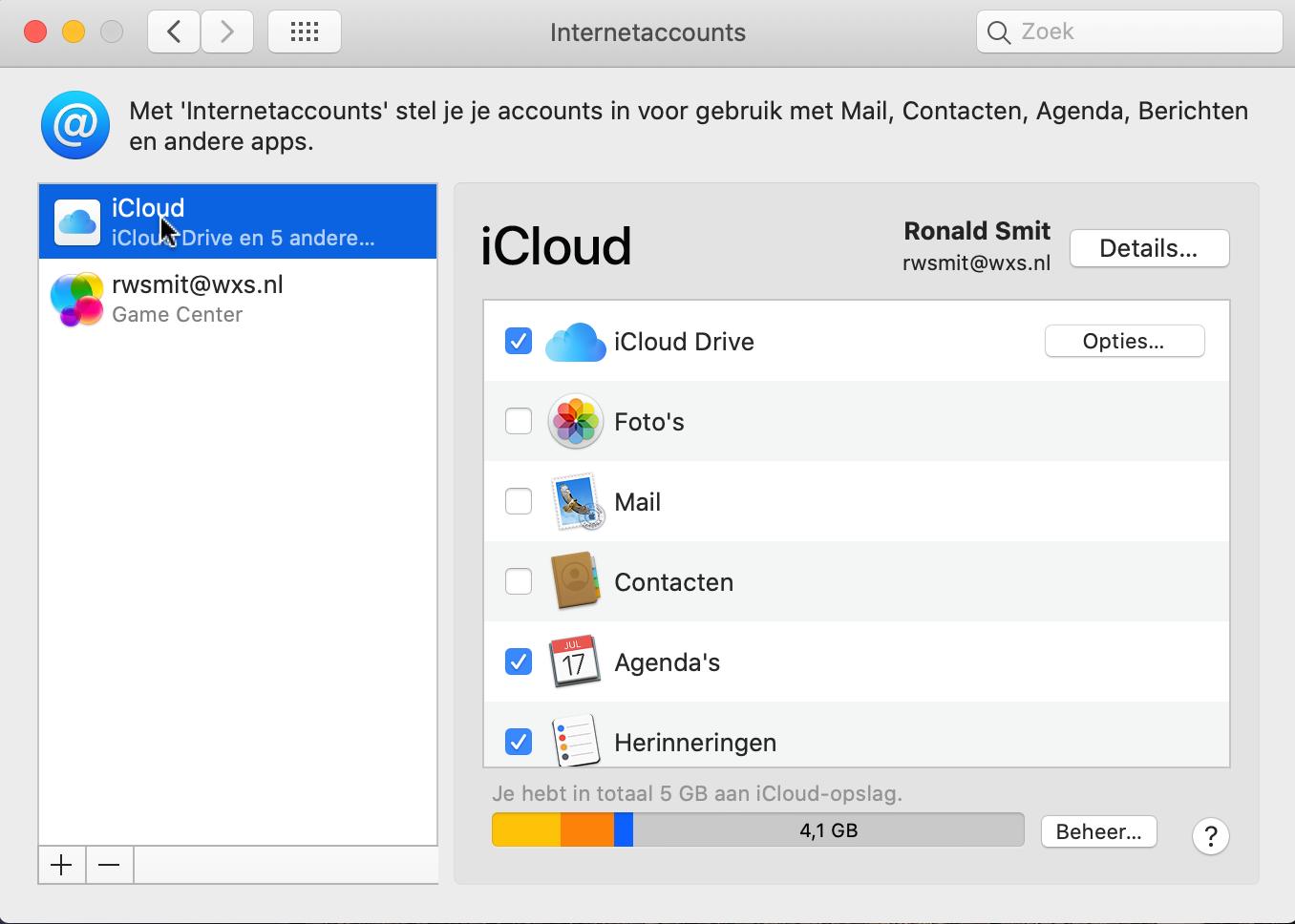 iCloud dataverkeer in macOS