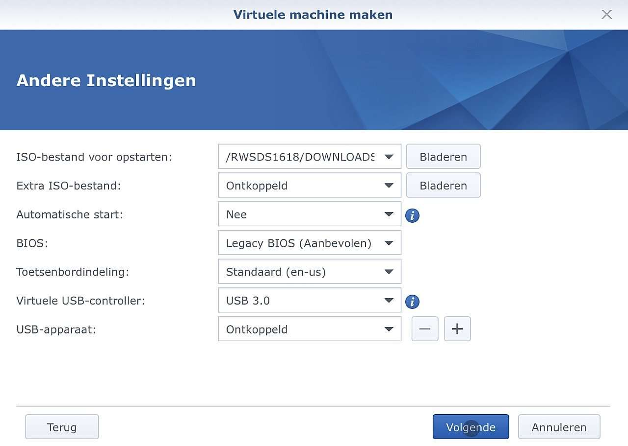 Virtuele machine op je Synology NAS