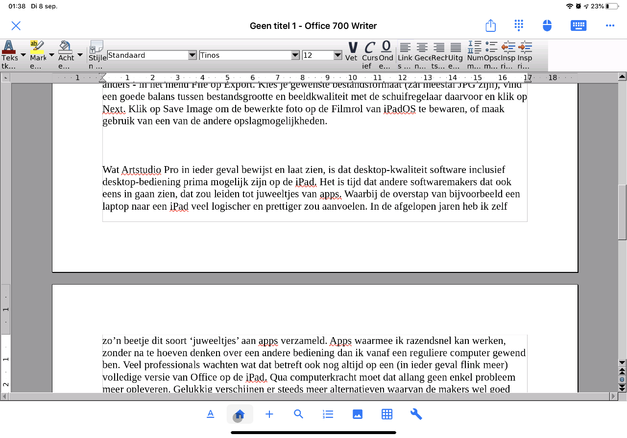 Artstudio Pro voor iPadOS
