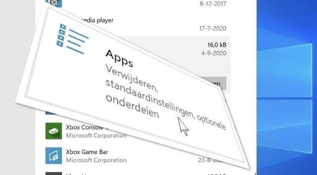 Windows 10 apps repareren (en verwijderen)