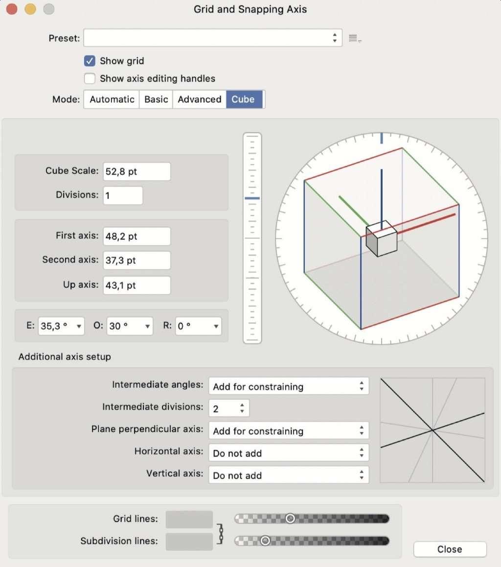 rasters en isometrie in Affinity Designer